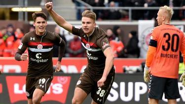 Florian Carstens erzielte die Führung für den FC St. Pauli
