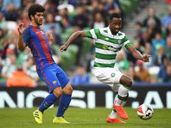 Carles Aleñà en pretemporada con el primer equipo contra el Celtic. (Foto: Getty)