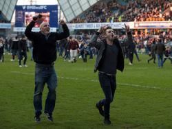 Millwall-Fans feiern Pokalsieg