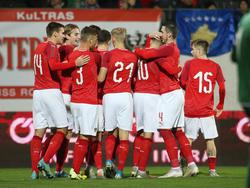 Österreichs U21 bejubelt den verdienten Heimsieg gegen den Kosovo