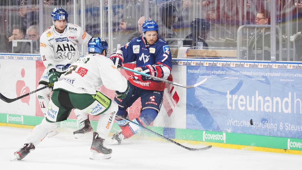 Adler Mannheim setzten sich auch gegen Augsburg durch