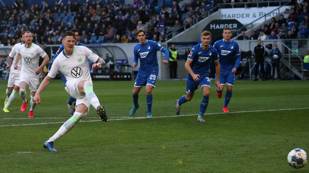 Wout Weghorst war für den VfL Wolfsburg der Mann des Spiels