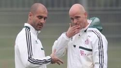 Arbeiteten einst beim FC Bayern zusammen: Pep Guardiola und Erik ten Hag