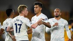 Manchester City jubelt über das Tor von Kevin de Bruyne