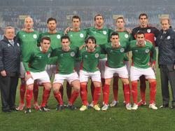 Eine baskische Auswahl vor dem Spiel gegen Bolivien