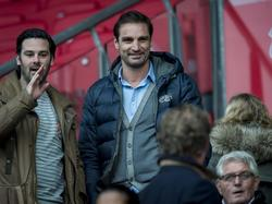 Oscar Moens is aandachtig toeschouwer bij een wedstrijd tussen FC Utrecht en PEC Zwolle. (01-02-2015)