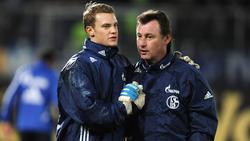 Bernd Dreher (re.) trainierte Manuel Neuer beim FC Schalke 04