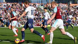 Harry Kane (l.) feierte in Burnley ein gelungenes Comeback