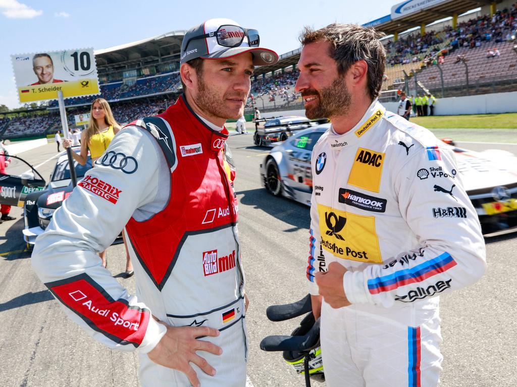 Timo Glock (r.) mit seinem Kumpel Timo Scheider