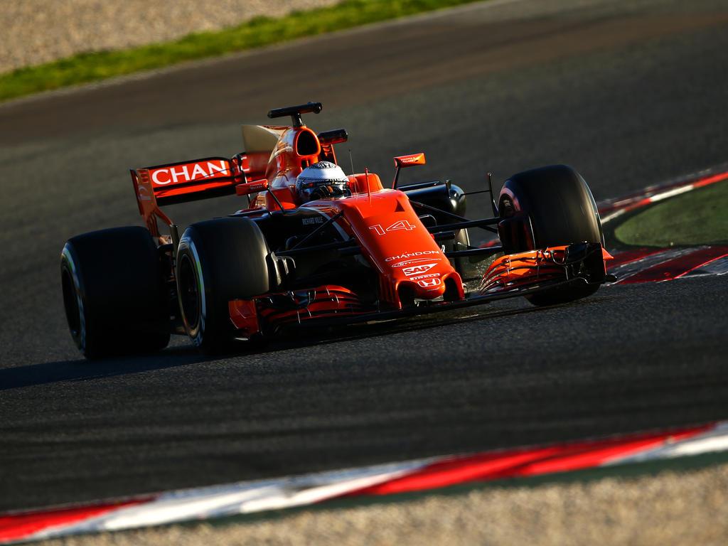 Bei Fernando Alonso und McLaren verliefen die Tests nicht nach Plan