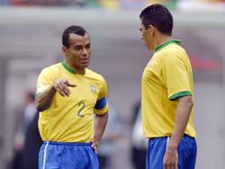 Lucio (re.) und Cafú (li.) haben in ihrer Laufbahn unzählige Titel gewonnen