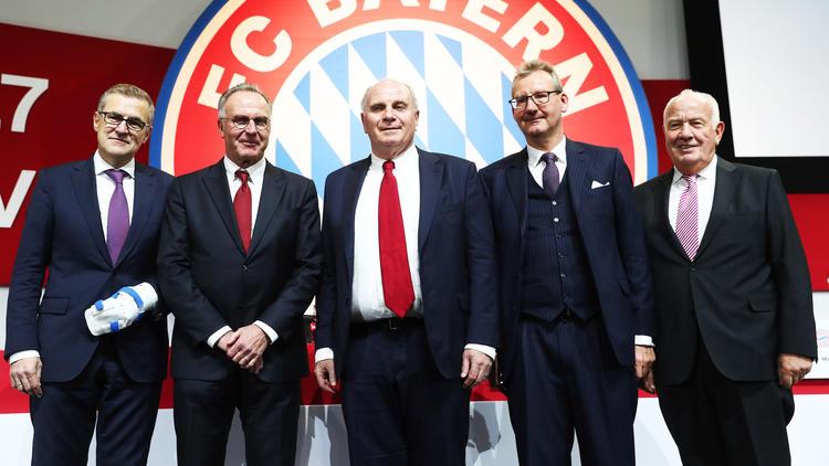 Die Bosse des FC Bayern können auf ein gutes Finanzjahr zurückblicken