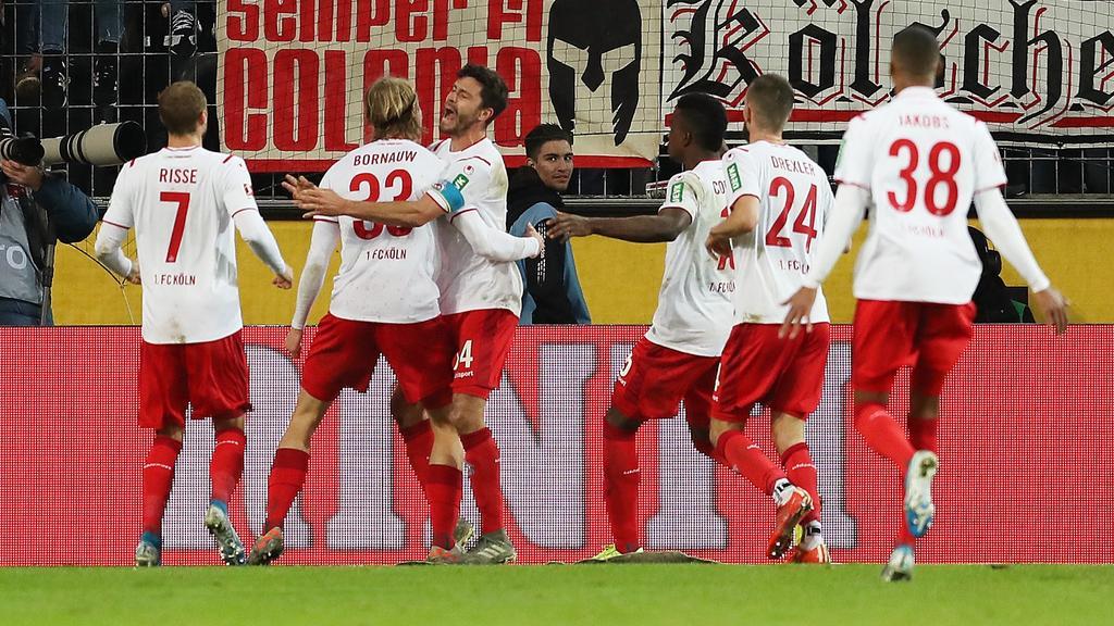 Der 1. FC Köln jubelt über den Befreiungsschlag