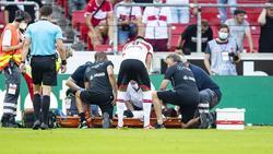 Mohamed Sankoh verletzte sich nach nur einer Minute auf dem Platz schwer