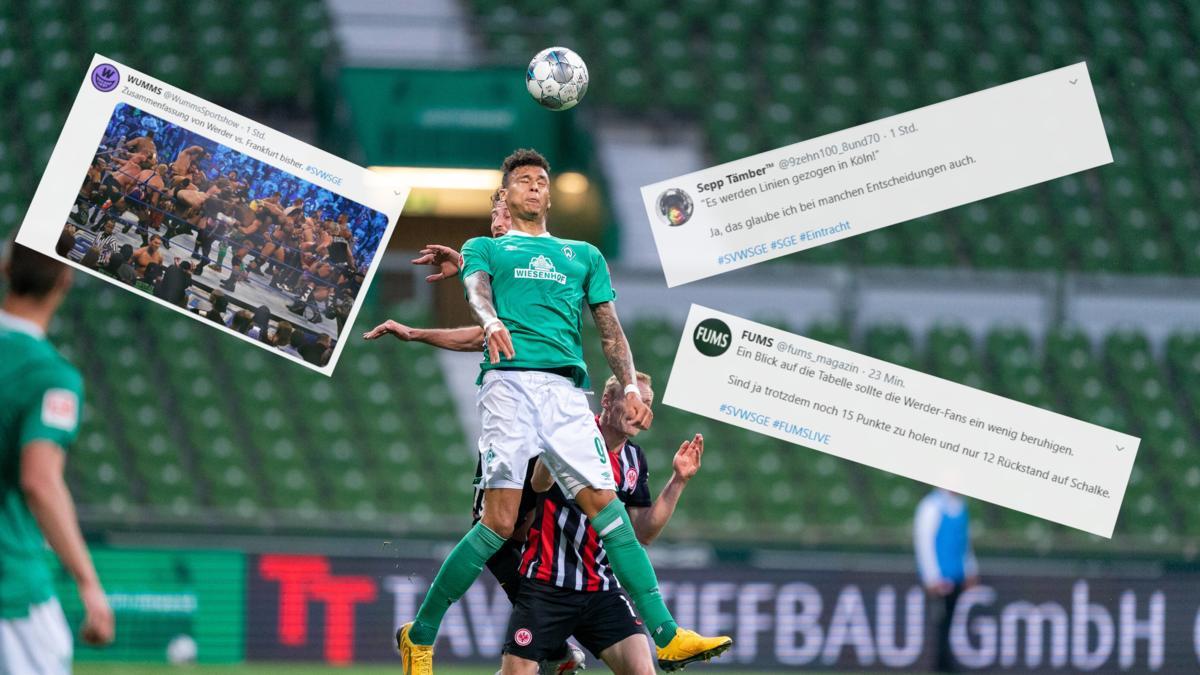 Werder Bremen ging gegen Eintracht Frankfurt baden