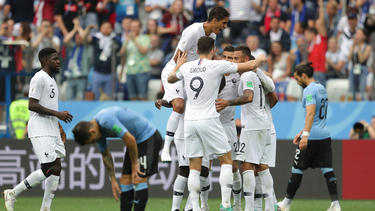 Uruguay no tuvo opción en todo el encuentro. (Foto: Getty)