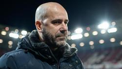 Peter Bosz strebt mit Bayer Leverkusen einen Sieg an