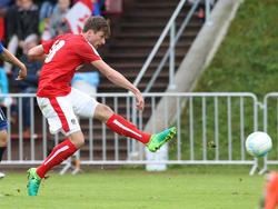 Patrick Obermüller kommt zu seinem Debüt für Rapid Wien