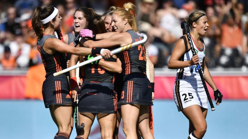 Die Hockey-Damen der Niederlande haben sich den EM-Titel gesichert