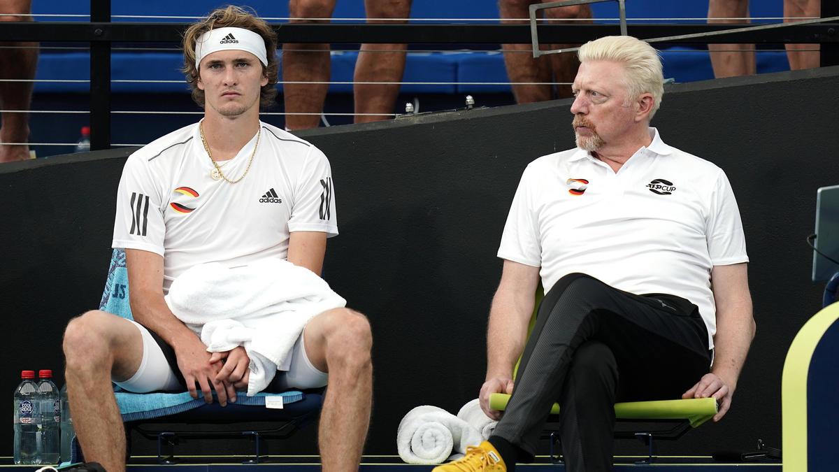 Alexander Zverev (l.) steht im Finale der US Open
