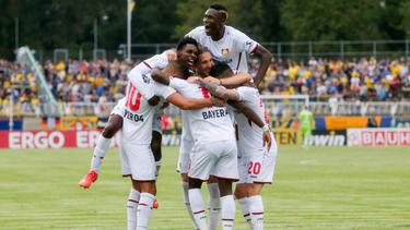 Bayer Leverkusen zog souverän in die zweite Runde des DFB-Pokals ein