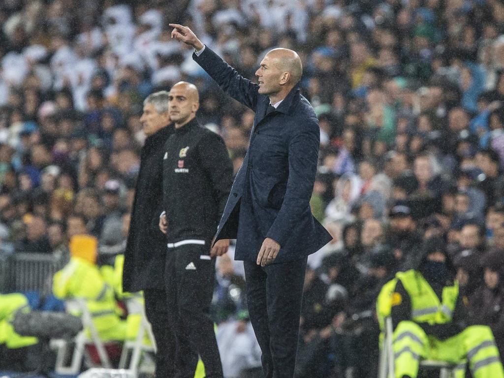 Real-Madrid-Trainer Zinedine Zidane