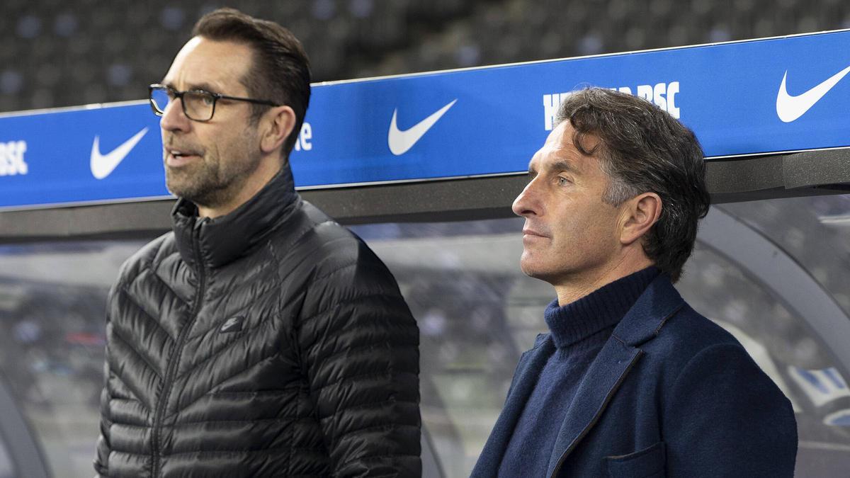 Michael Preetz (l.) und Bruno Labbadia sind ihre Jobs los