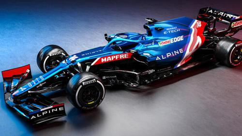 Der neue Alpine für die Saison 2021 kommt in neuen Farben daher