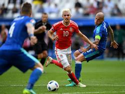 Aaron Ramsey se perderá las semifinales de la Eurocopa suspendido. (Foto: Getty)