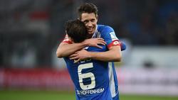 Sebastian Rudy (vorne) und Mark Uth spielten eine Saison lang bei der TSG Hoffenheim zusammen