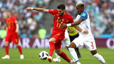 Yannick Ferreira-Carrasco en el duelo frente a Panamá del Mundial 2018. (Foto: Getty)