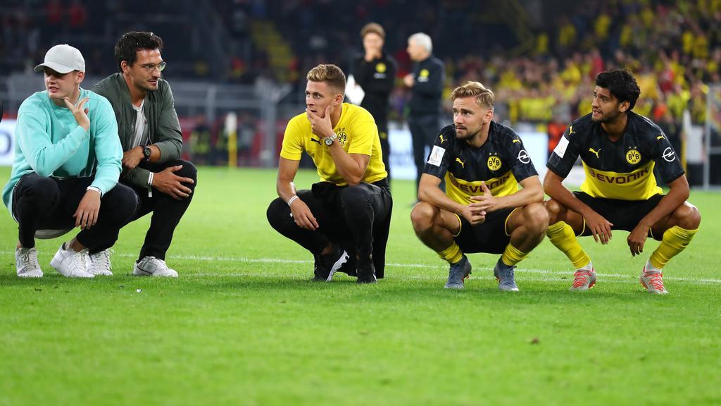 Von Julian Brandt, Mats Hummels und Thorgan Hazard (v.l.n.r.) erhofft man sich viel beim BVB