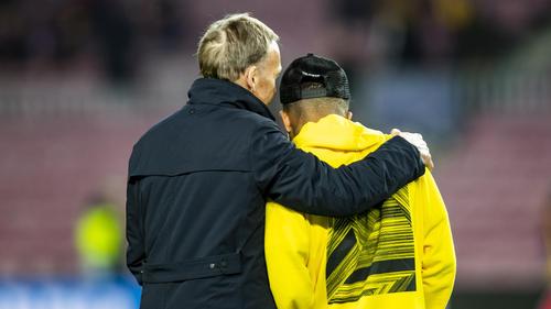Jadon Sancho (r.) steht beim BVB unter Vertrag