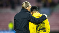 Hans-Joahim Watzke (l.) und BVB-Star Jadon Sancho