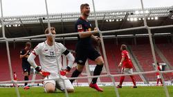 Leipzigs Stürmer Timo Werner erzielte gegen Mainz gleich drei Tore