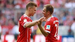 Lahm (re.) spielte mit Kimmich beim FC Bayern zusammen