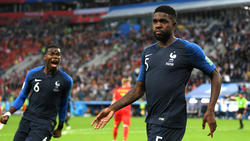 Samuel Umtiti bejubelt seinen Treffer im Halbfinale gegen Belgien