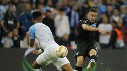Adam Marusic setzte mit einem Traumtor den Schlusspunkt gegen Marseille