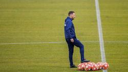 Domenico Tedesco ist sich bewusst, dass Schalke nur Außenseiter ist