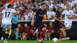 Mesut Özil kann mit dem FC Arsenal die Europa League gewinnen