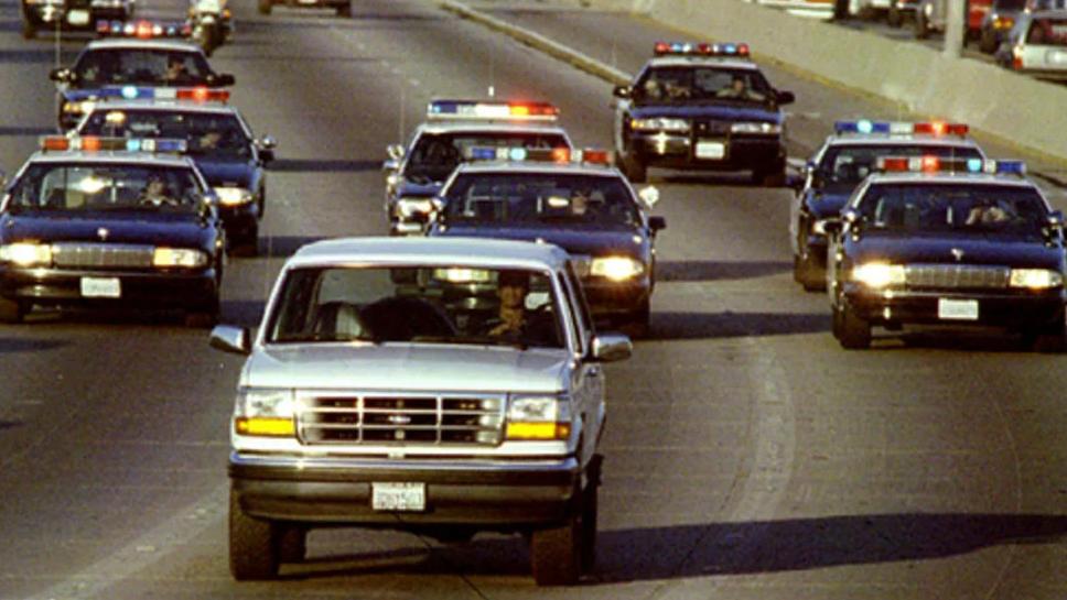 O.J. Simpson flüchtet vor der Polizei