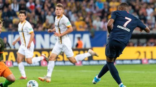 Kylian Mbappé erzielte gegen Dresden zwei Tore