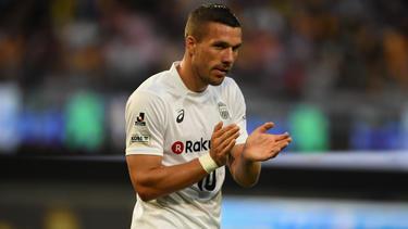 Lukas Podolski steht in Japan bei Vissel Kobe unter Vertrag