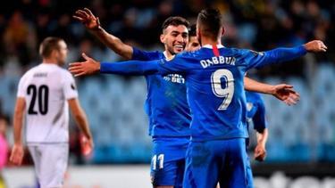 Munir y Dabbur anotaron juntos los cinco tantos del Sevilla.