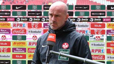 Marco Antwerpen steckt mit dem 1. FC Kaiserslautern schon wieder in der Krise