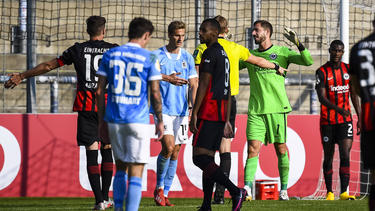 Eintracht Frankfurt feierte einen knappen Erfolg gegen den TSV 1860 München