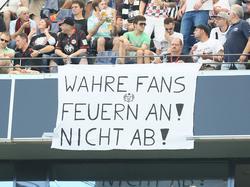 Einige Frankfurt-Fans positionieren sich deutlich zu den Vorfällen