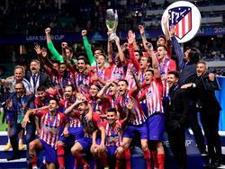 El Atlético conquitsó su tercera Supercopa de Europa. (Foto: Getty)