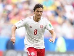 Delaney für Dänemark am Ball