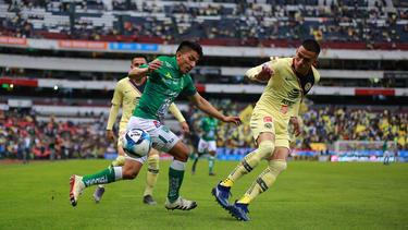 Ángel Mena se convirtió en héroe del León con un doblete. (Foto: Getty)